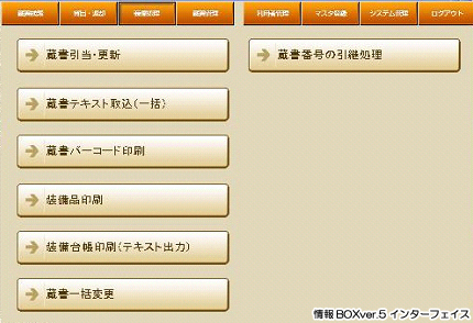 情報BOXのインターフェイスの写真