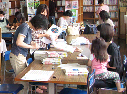 山形市立第七小図書館「蔵書登録」の写真